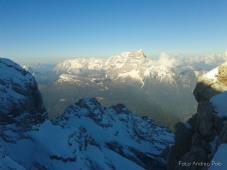 Il Monte Pelmo e la Civetta sullo sfondo